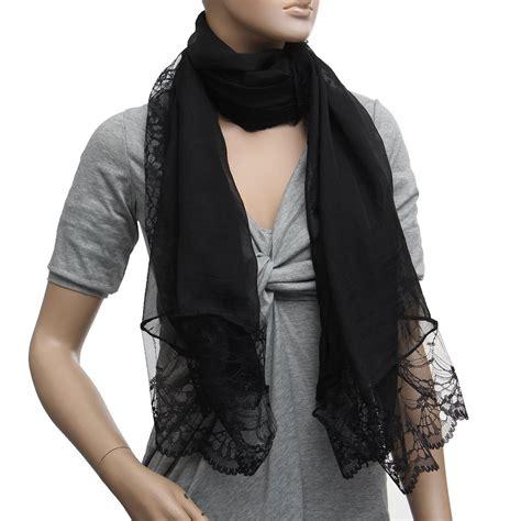 Cp Lace scarves chiffon lace scarf wrap scarf black cp ebay