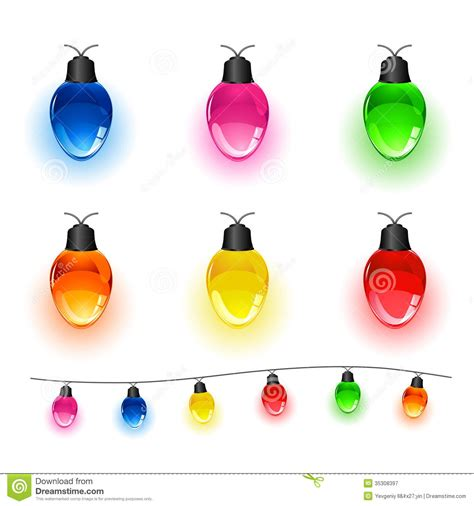 Wonderful Multi Colored Christmas Tree Lights #2: Set-light-bulbs-multi-colored-christmas-isolated-white-background-illustration-35308397.jpg