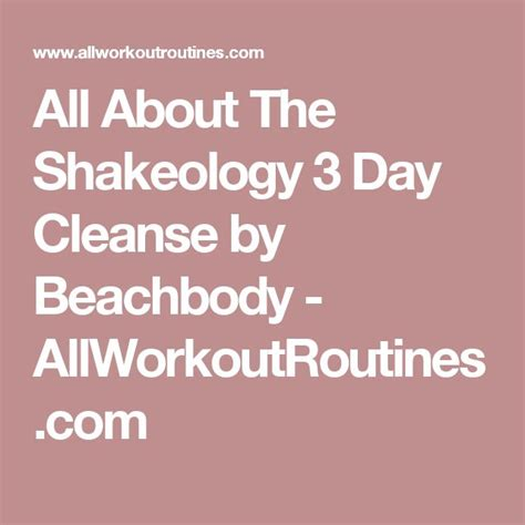 Shakeology 3 Day Detox by Best 25 Shakeology 3 Day Cleanse Ideas On