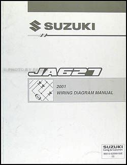 2001 suzuki xl 7 ja627 repair shop manual original