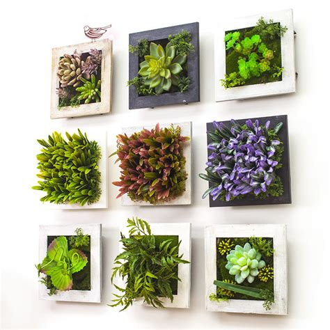 home decor with flowers 2017 3d creative metope succulent plants imitation wood