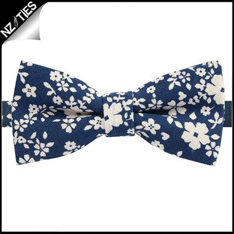 blue pattern bow tie navy blue with white floral pattern bow tie nz ties