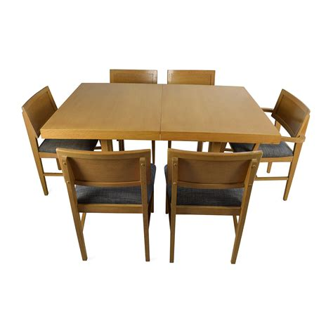 6 Chairs Dining Table 59 Mid Century Extension Dining Table And Six Chairs Tables