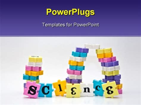 templates for powerpoint related to science word science spelled with the pieces of a children s word