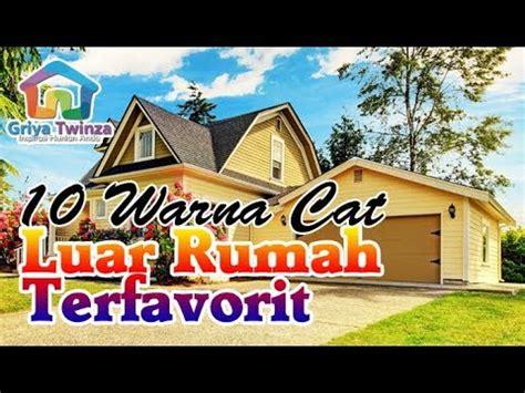 warna cat dinding luar rumah  cerah terfavorit