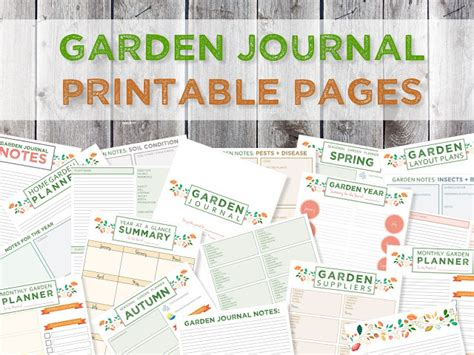 garden journal template green in real ideas for the home garden companion