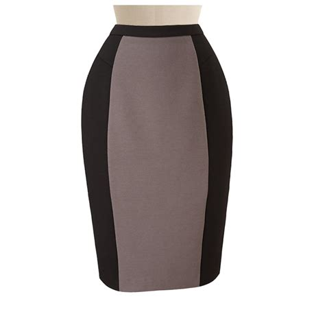 black and beige pencil skirt custom handmade fully lined