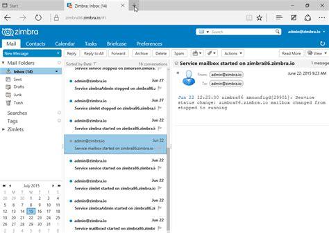 zimbra mobile web client zimbra collaboration web client in windows 10 microsoft