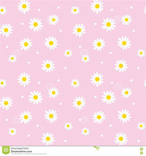 daisy background pattern vector daisy cute seamless pattern stock vector illustration