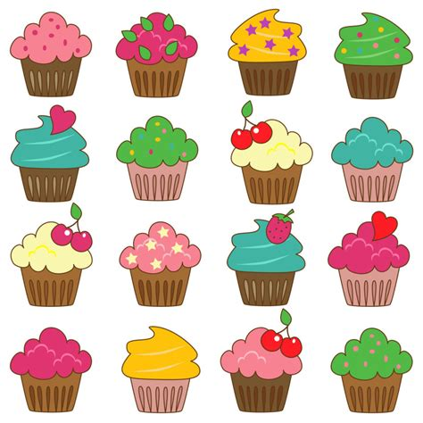 free cupcake clipart best cupcake border clip 21254 clipartion
