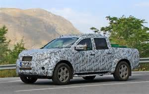 Mercedes Truck Pictures 2017 Mercedes Glt Truck Spied In Spain
