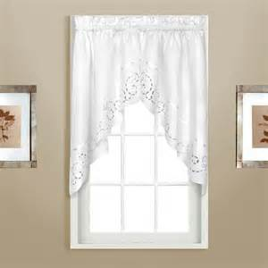 curtain bath outlet white embroidered cutwork
