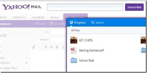 dropbox yahoo yahoo mail integrated with dropbox