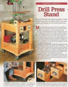 12 Base Cabinet Mobile Drill Press Stand Plans Woodarchivist