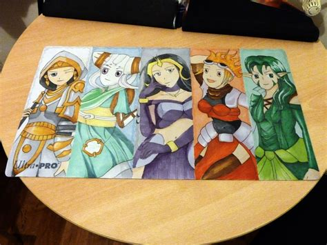 Handmade Playmat - official custom playmats artwork creativity