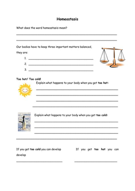 Homeostasis And Cell Transport Worksheet by Homeostasis Worksheets Worksheets For School Getadating