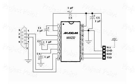 rs232 to ttl converter db9 pcb max232 max232