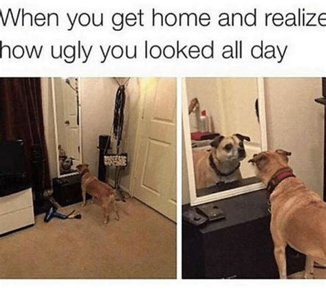 when you get home and realize how you looked all day