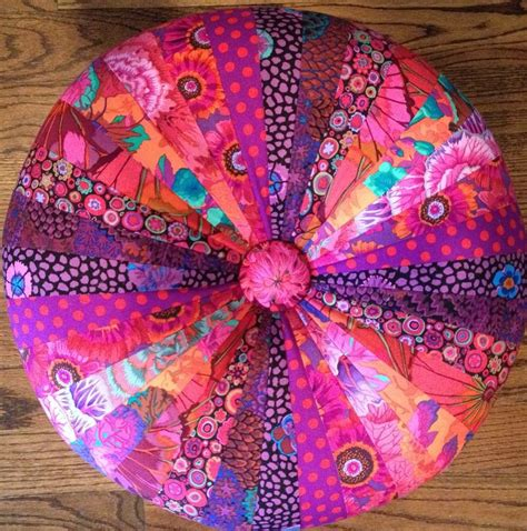 fabric ottoman etsy red tuffet sew colorful quilts on etsy and facebook