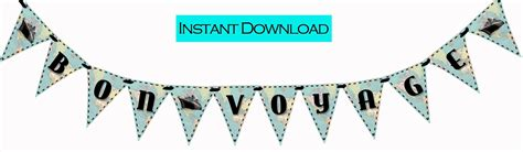 printable bon voyage banner bon voyage vintage map printable party banner and decoration