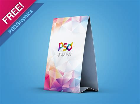tent card template psd free table tent mockup template free psd by psd graphics dribbble