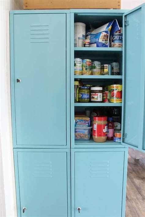 ikea lockers creating a pantry when you don t have one