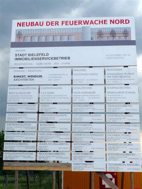 Bauschild Werbeanlage by Lettershop Bielefeld Bauschilder Bauplanen