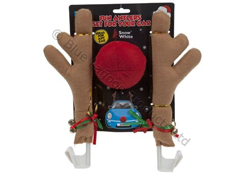 reindeer antlers nose for car christmas novelty festive