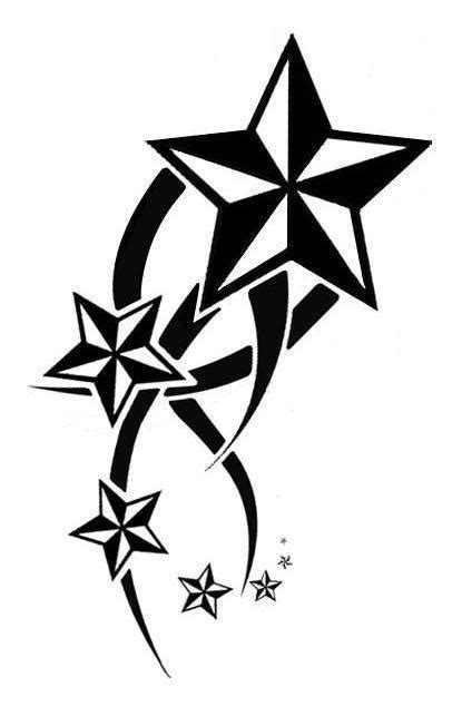 star outline tattoo nautical outline cliparts co