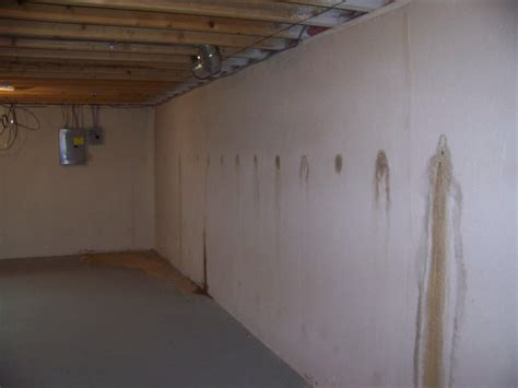 basement walls leaking small basement leaks can lead to big basement floods basement waterproofing