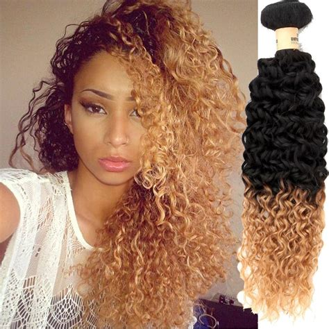 perruque 1b 27 blonde peruvian hair weave curly ombre