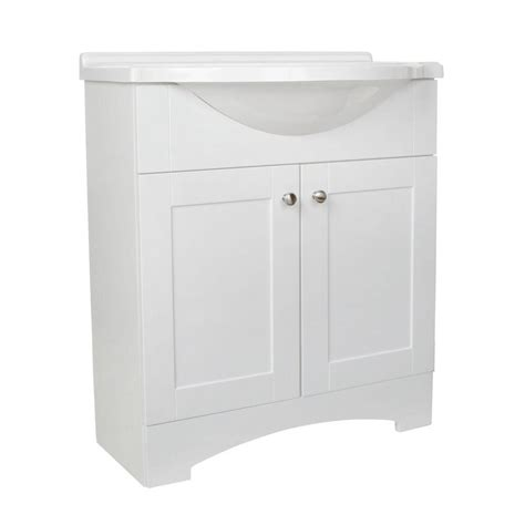 glacier bay bathroom vanities glacier bay all in one 30 in w vanity combo in chestnut with cultured marble vanity top in