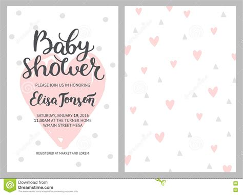 Baby Shower Girl And Boy Invitations Vector Templates Stock Vector Image 74941294 Baby Shower Text Template