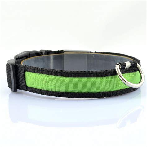 dog collars with lights for night new led glow night light dog belt leash pet light up