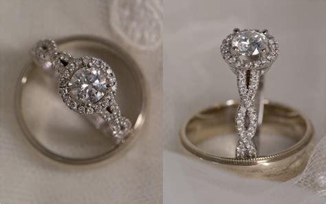 infinity wedding halo engagement ring with infinity band weddingbee