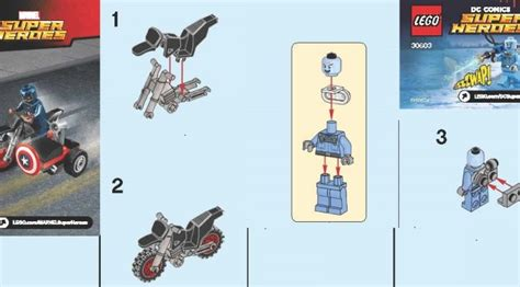 Lego 30447 Captain Amerika lego 30603 mr freeze and 30447 captain america polybag on lego minifigure