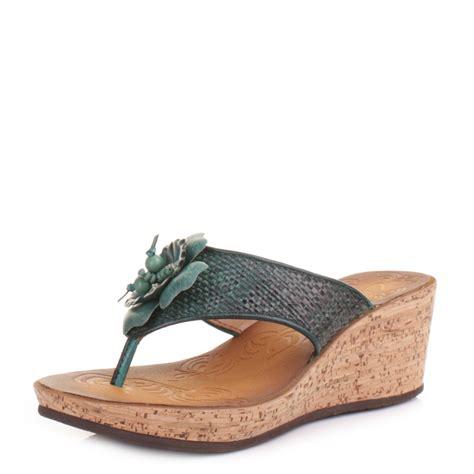 womens clarks rais teal wedge mules sandals