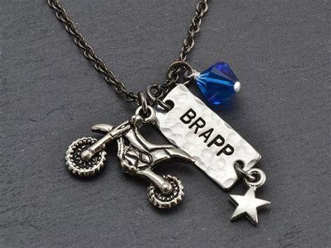 brapp necklace race number dirt bike necklace