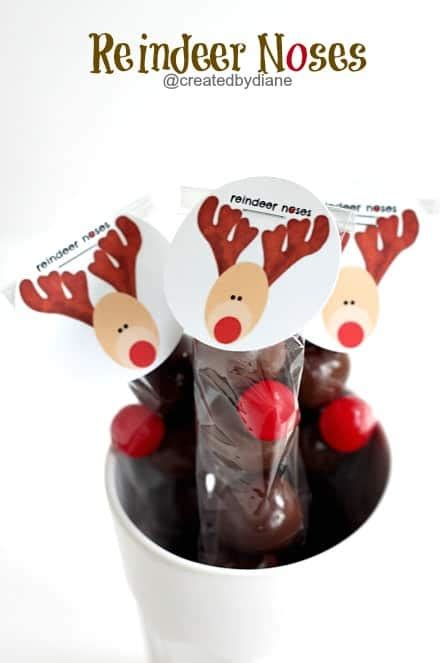 printable reindeer noses tags reindeer noses how to and printable created by diane