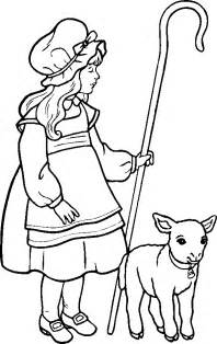 bo peep colouring pages 3