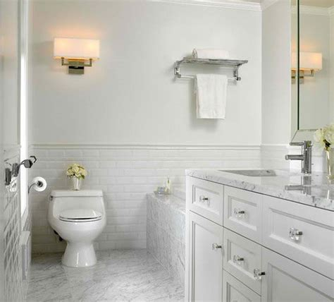 all white bathroom ideas 20 beautiful bathrooms using subway tiles home design lover