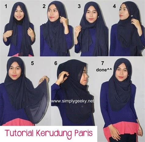 tutorial jilbab simple dan modis cara memakai jilbab paris modis dan anggun