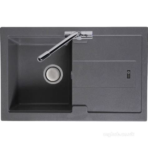 compact kitchen sinks stone grey bali kitchen sink reversible with drainer and