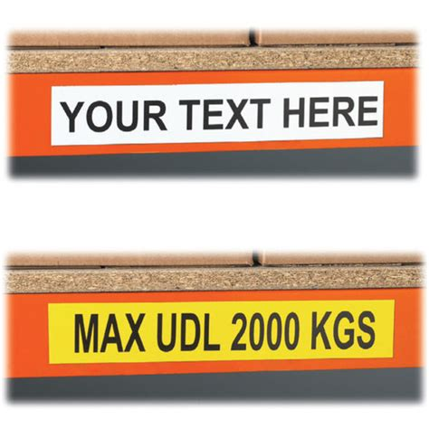 magnetic beam shelf level warehouse labels signs