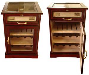 How To Build A Cigar Humidor Cabinet Cuban Crafters Wine And Cigars Cabinet Humidor End Table