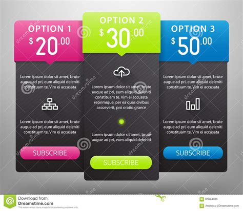 web design pricing tables template vector mock up royalty free two vector pricing tables for web vector illustration