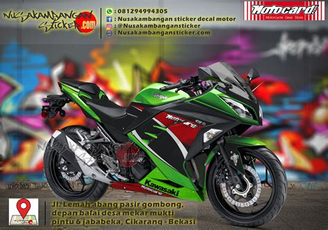 Striping Suzuki Lets Hijau decal striping kawasaki 250 fi motocard hijau