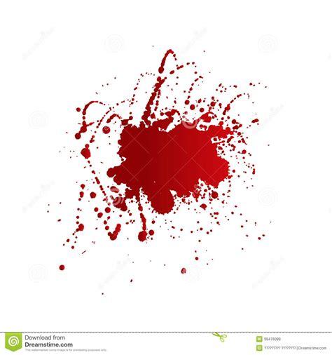 taches de sang d isolement sur le fond blanc illustration