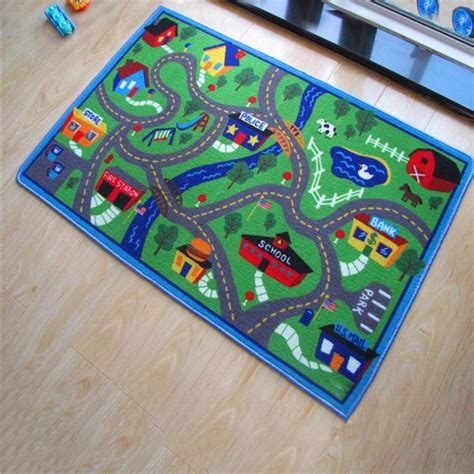 track rug yazi play mat racing track carpet children baby interest rug living room bedroom