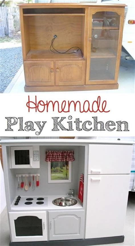 play kitchen reinvented from old furniture for my 25 unique diy childrens furniture ideas on pinterest